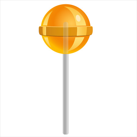 sweet candy lollipop isolated on white background