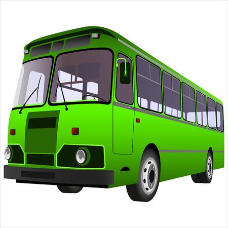 bus passagier voor het vervoer van mensen op een witte achtergrond Stock Illustratie
