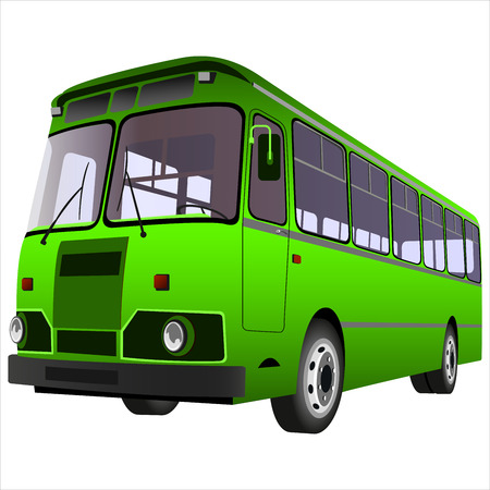 passenger bus for transportation of people on a white background