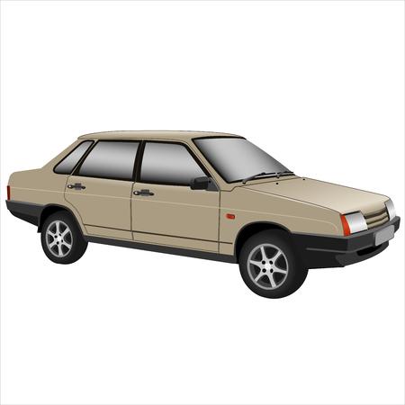 automobile retro car isolated on white background