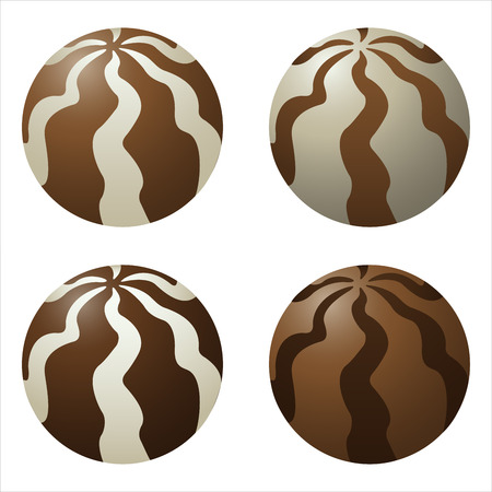 dragee: sweet chocolate candies dragee on a white background vector Illustration