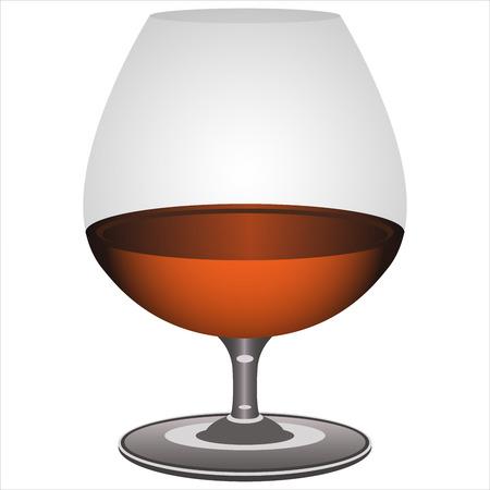 brandy: brandy glass on white background