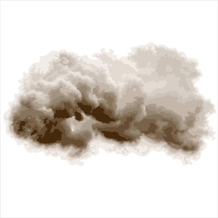storm cloud: grey storm cloud isolated on white background