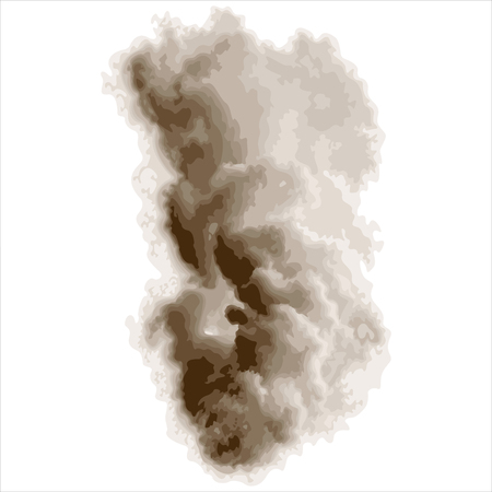 dense: abstract dense smoke isolated on white background