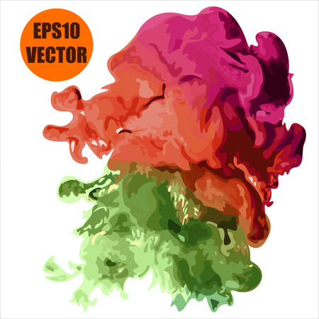 dissolution: abstract color cloud paint vector background Illustration