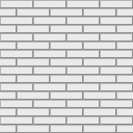 seamless texture walls of white brick vector background Illustration