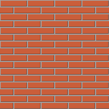 seamless texture walls of red brick vector background Vettoriali