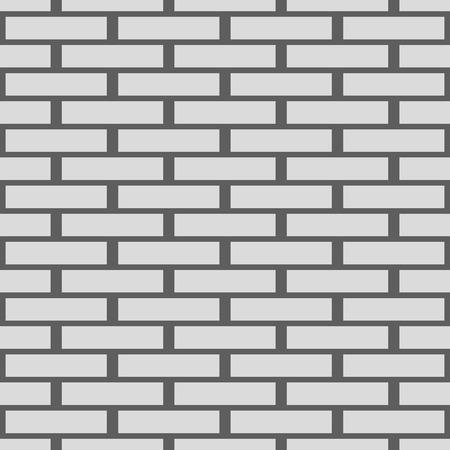 seamless texture walls of white brick vector background Vettoriali
