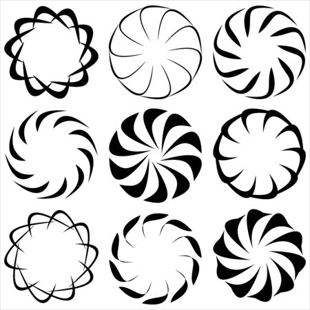 abstract circular patterns on a white background vector