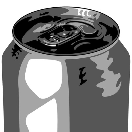 aluminum bank out of drink on a white background vector