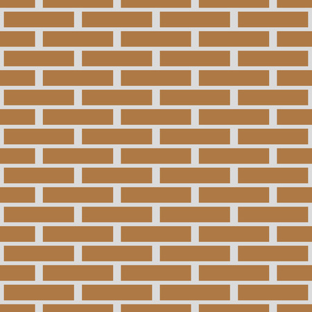 seamless texture walls of red brick vector background Çizim