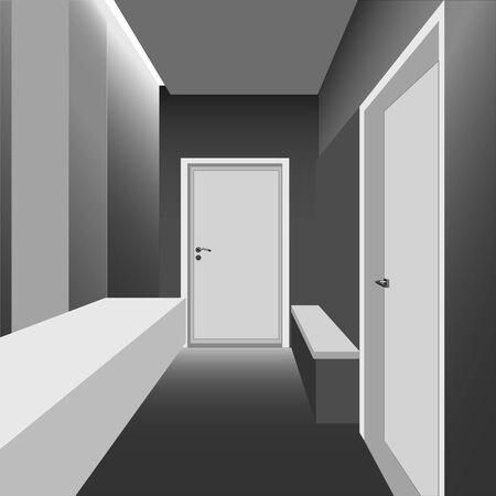 the interior design of the apartment hallway vector