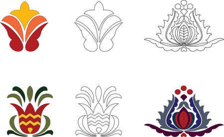 Traditional decoratrions (for textile and furniture)  Vector