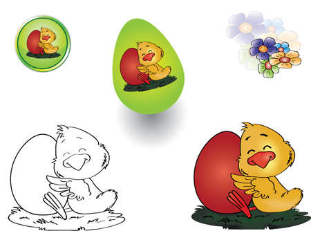 Easter chick Stock Vector - 11662924