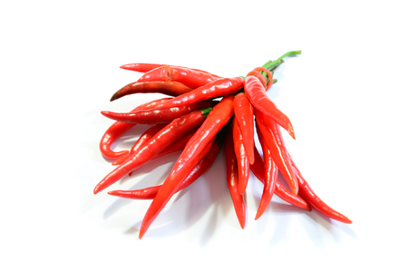 red hot chili pepper isolated on a white background  Stock Photo