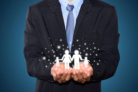 glückliche Menschen Konzept Familie, Kinder, weihnachten, x-mas Geschäftsleute, die Hände Mann Familie, die