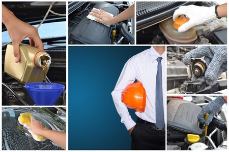 Maintaining a car controlled by engineers Stock Photo - 24662721