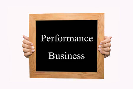 Hand write Performance business word concept photo