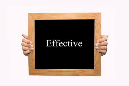 Hand write Effective word concept Stock Photo