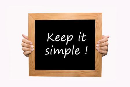 vereenvoudigen: Hand schrijven Houd het simpel woord begrip