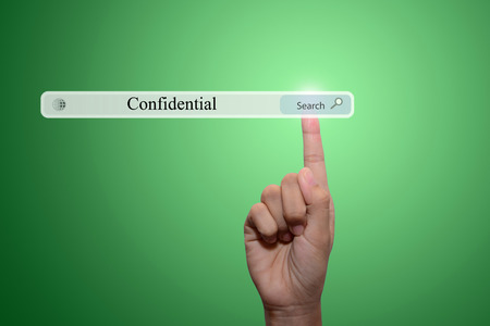 underhand: businessman pointing confidential concept  Stock Photo