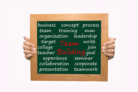 Writing team building concept  Stock Photo