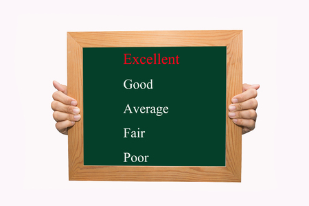 Writing selecting excellent evaluation concept  photo
