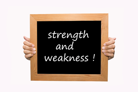 weakness: Hand write Strength and Weakness