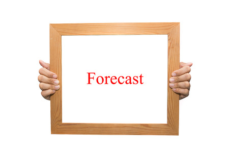 Forecast on a wooden board
