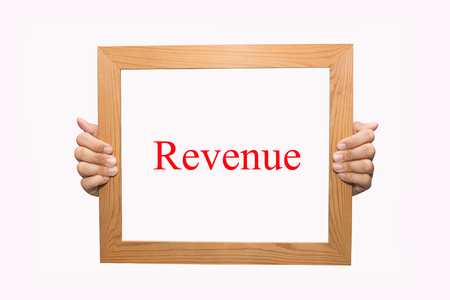 Writing Revenue concept  photo