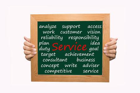 Writing service concept  Stock Photo