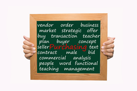 Writing purchasing concept