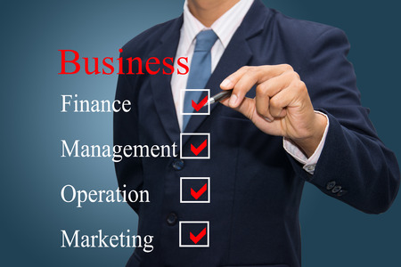 business hand writing business concept  Stock Photo