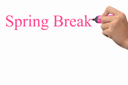 Business hand writing Spring Break concept  photo