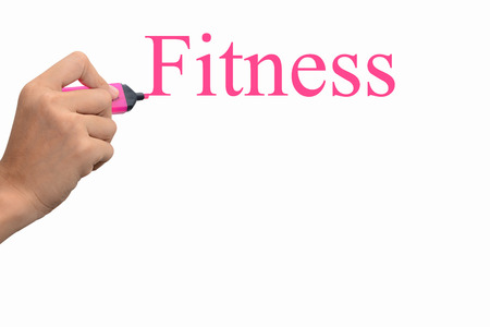 Business hand writing Fitness concept