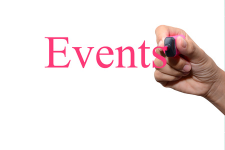 Hand writing Events concept  photo
