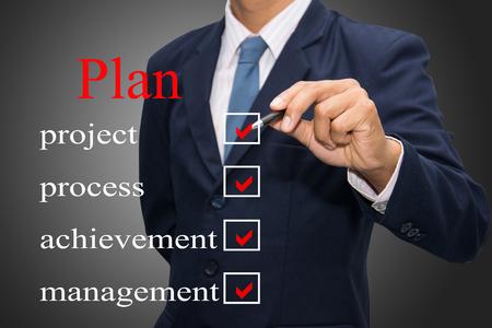 business man writing Plan concept