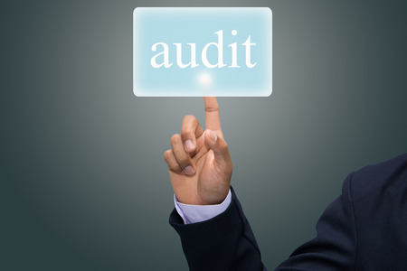 Business hand writing Audit concept  Stock Photo