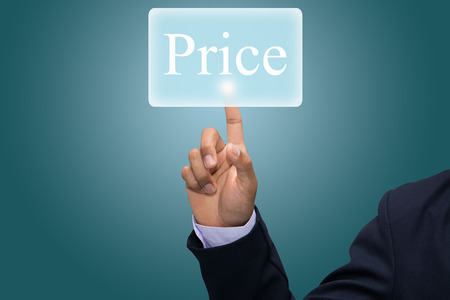Business hand writing Price concept  photo
