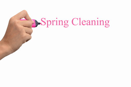 spring cleaning: Business hand writing Spring Cleaning concept