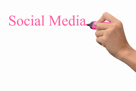 Business hand writing Social Media concept  photo