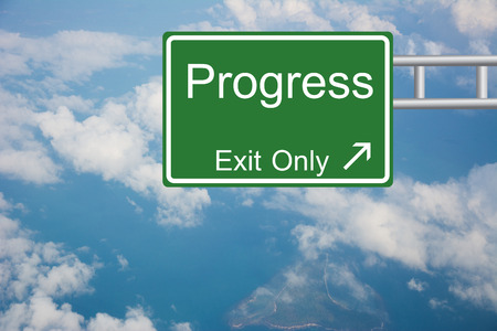 Creative Progress Exit Only, Road Sign  photo