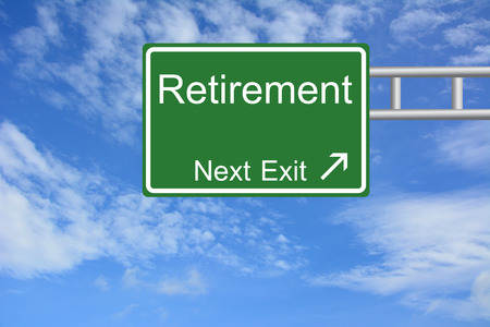 Creative Retirement Exit Only, Road Sign  Stock Photo
