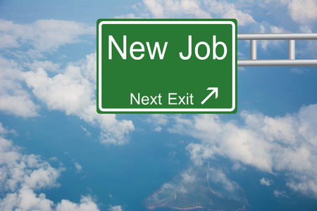 Creative New Job Road Sign  Standard-Bild