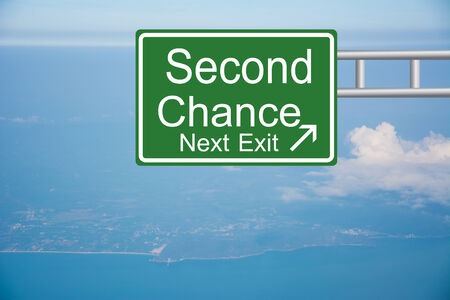 Creative sign with the text - Second Chance  Stock Photo