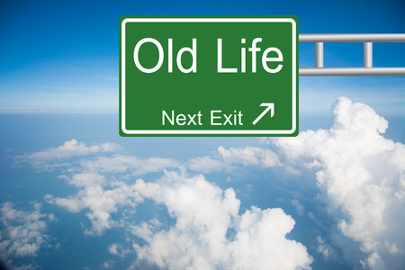 Creative Old Life Road Sign  photo