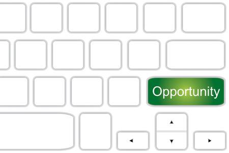teclado de computadora: Teclado de ordenador con oportunidad palabra