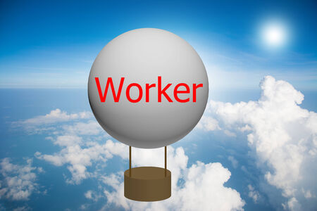 Write a worker first on the balloon.