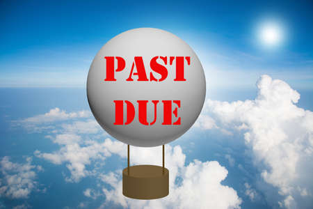 Write a PAST DUE on the balloon.  photo