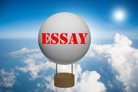 essay: Write a ESSAY on the balloon.